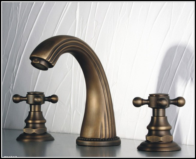 Antique Brass Bathroom Faucets Widespread