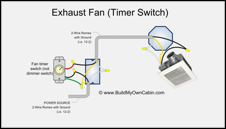 Bathroom Fan Timer Switch Wiring