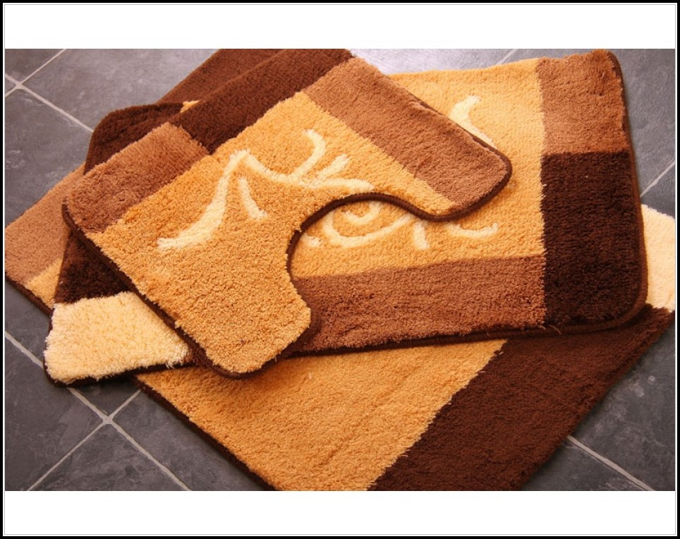 Bathroom Rug Sets Brown