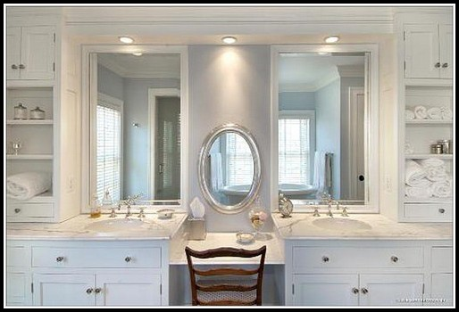 Bathroom Vanity With Makeup Area