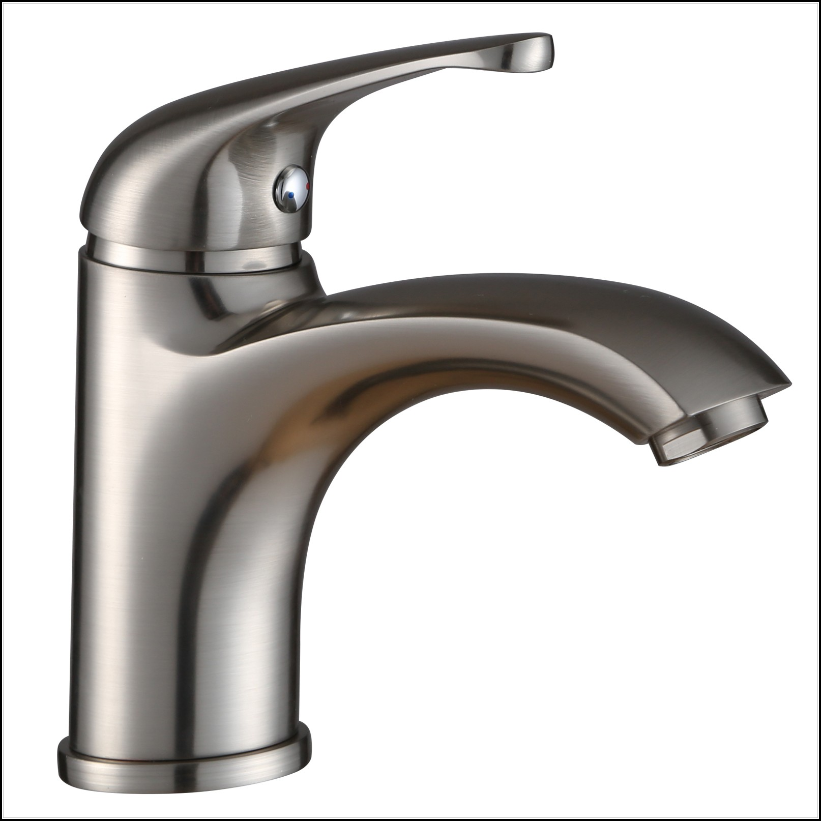 Brushed Nickel Single Handle Bathroom Faucet