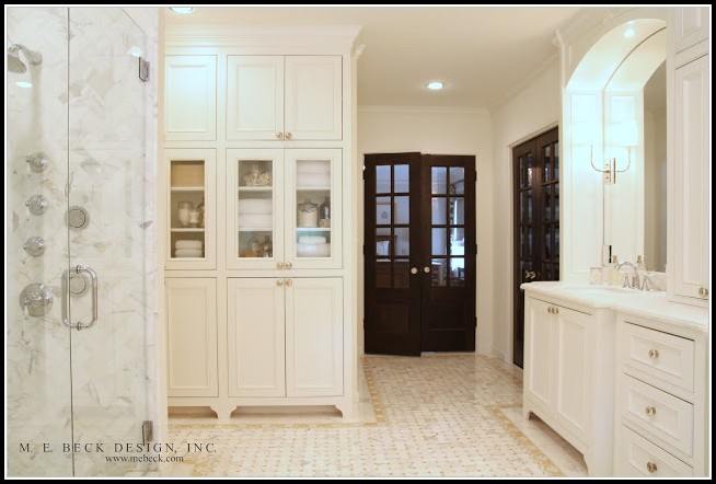 Built In Bathroom Linen Cabinets