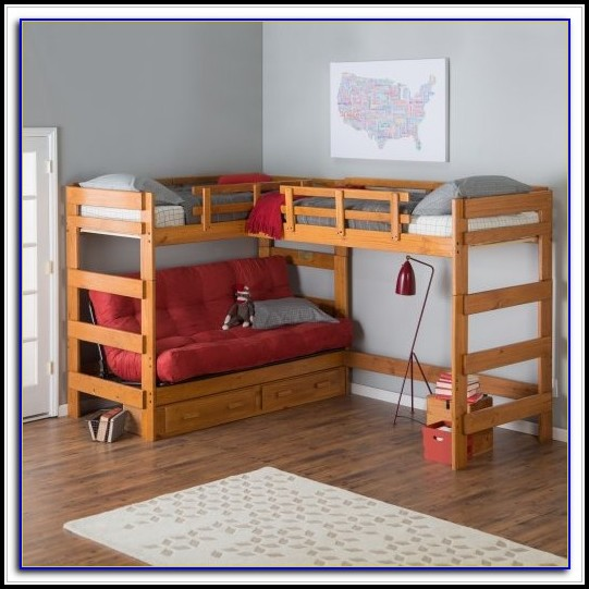 Bunk Beds With Futon Bottom And Desk
