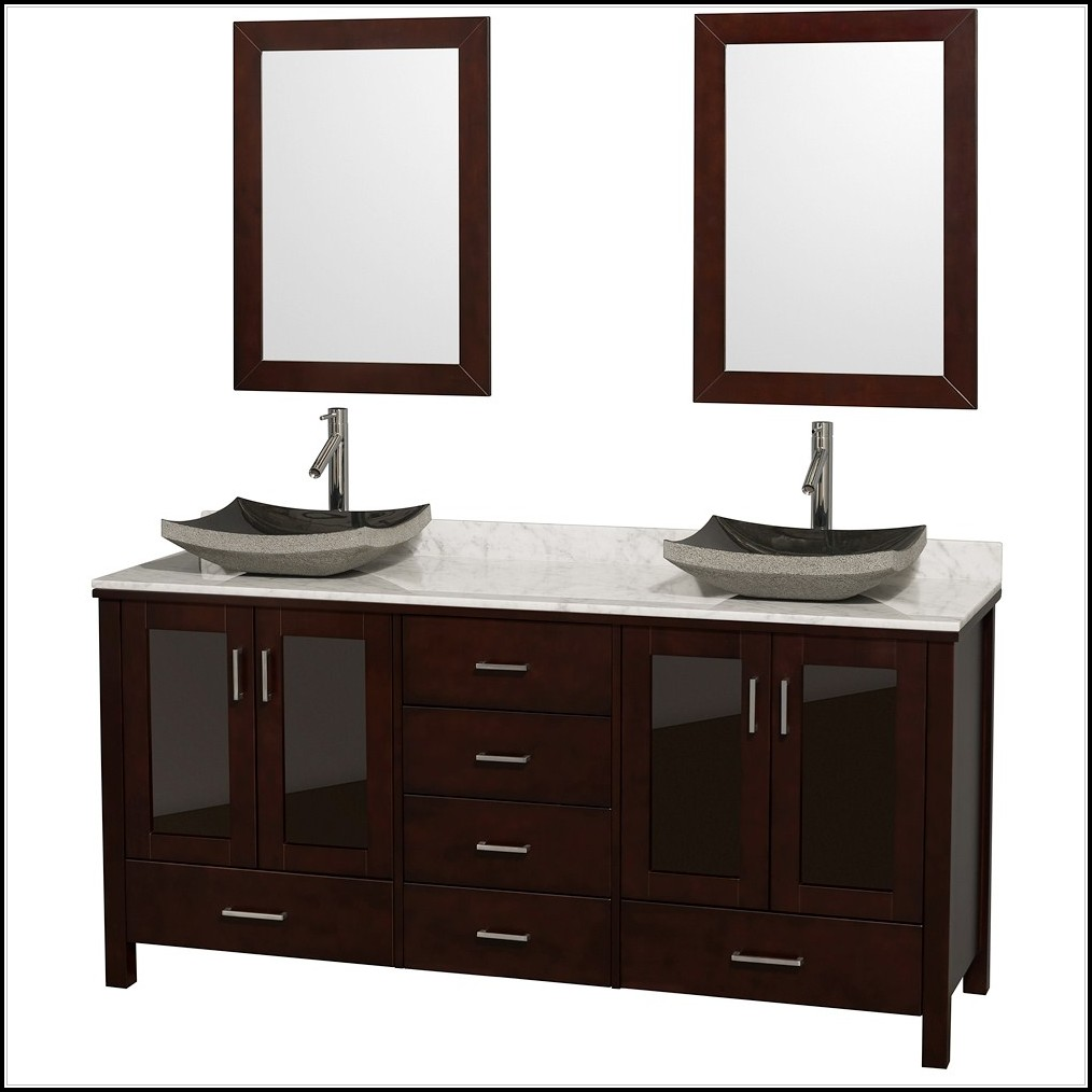 Double Bathroom Vanity With Vessel Sinks