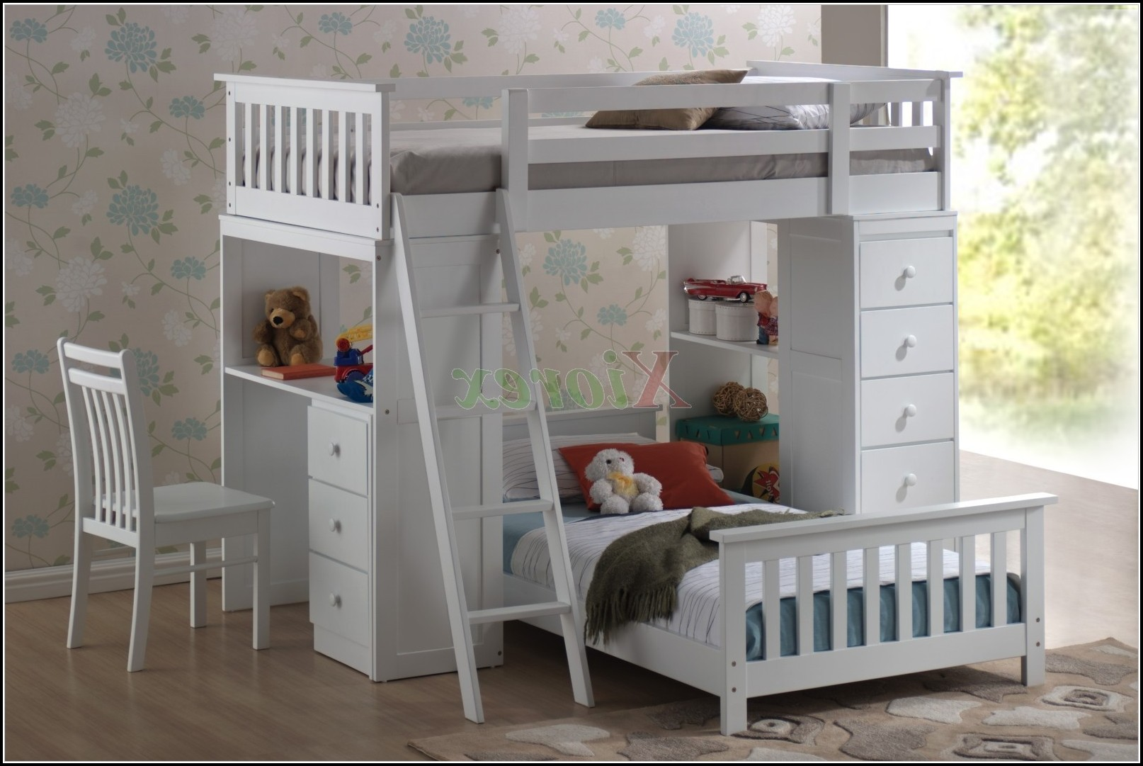 Loft Bunk Beds With Desk And Storage