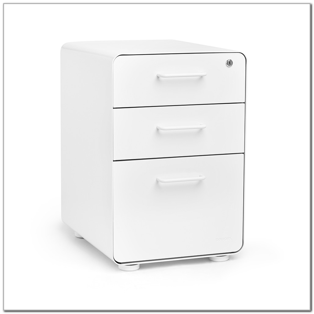 3 Drawer File Cabinet White