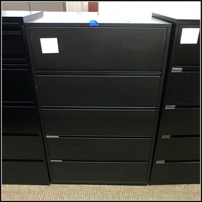 5 Drawer Lateral File Cabinet Black