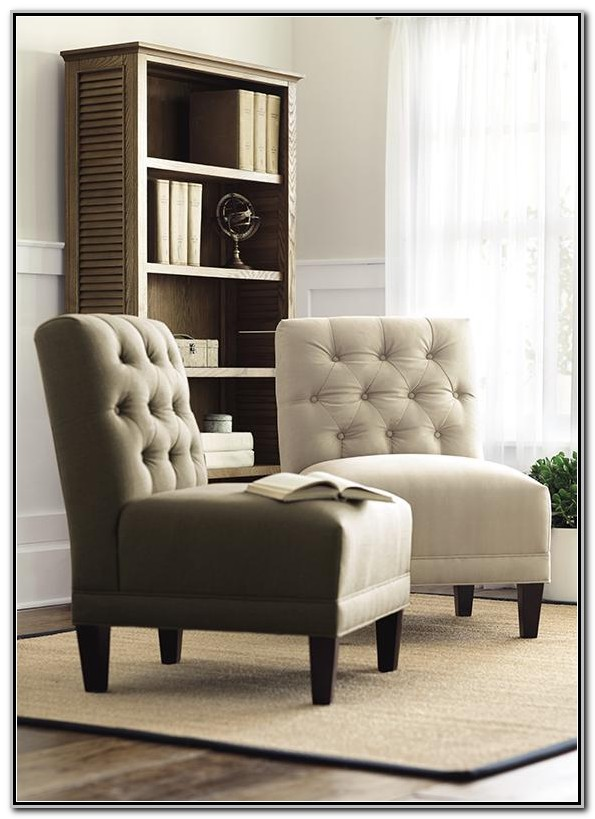Armless Upholstered Living Room Chairs