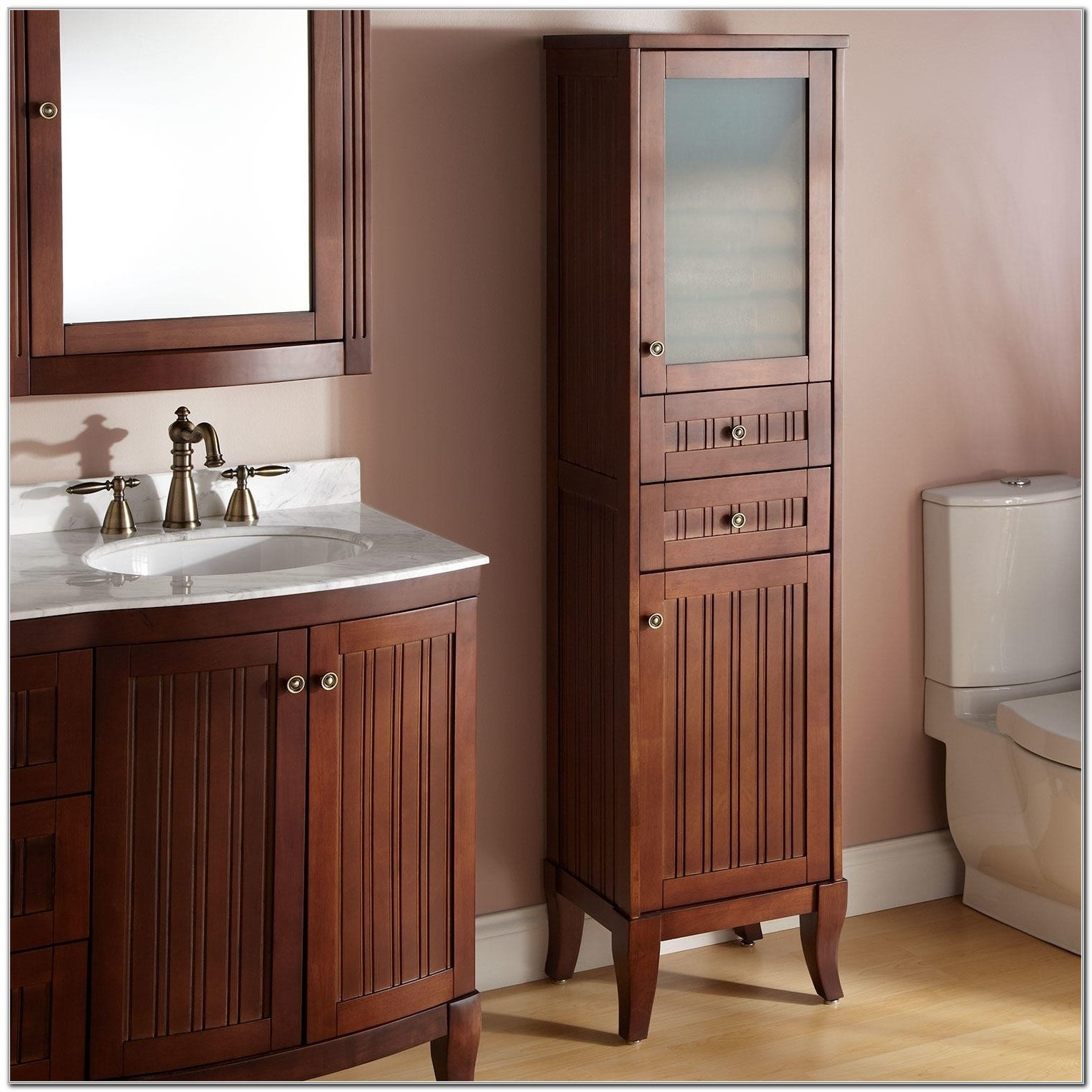 Bathroom Vanity With Attached Linen Closet