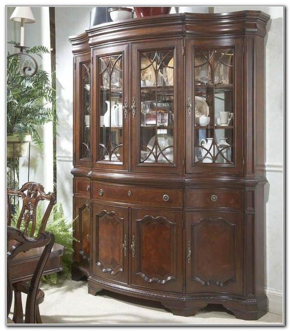 Buffet And Hutch With Glass Doors