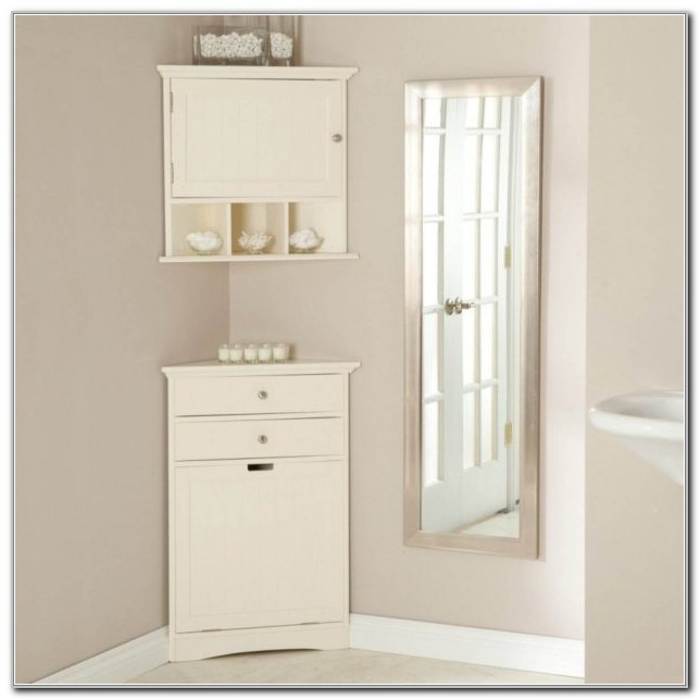 Corner Wall Hung Bathroom Cabinets
