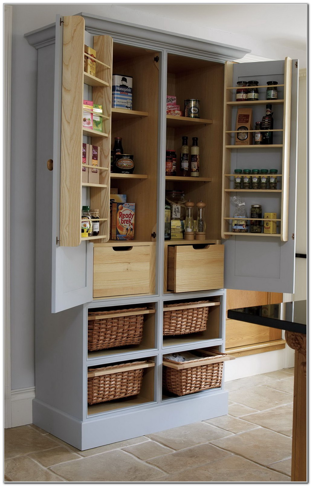 Free Standing Food Pantry Cabinet