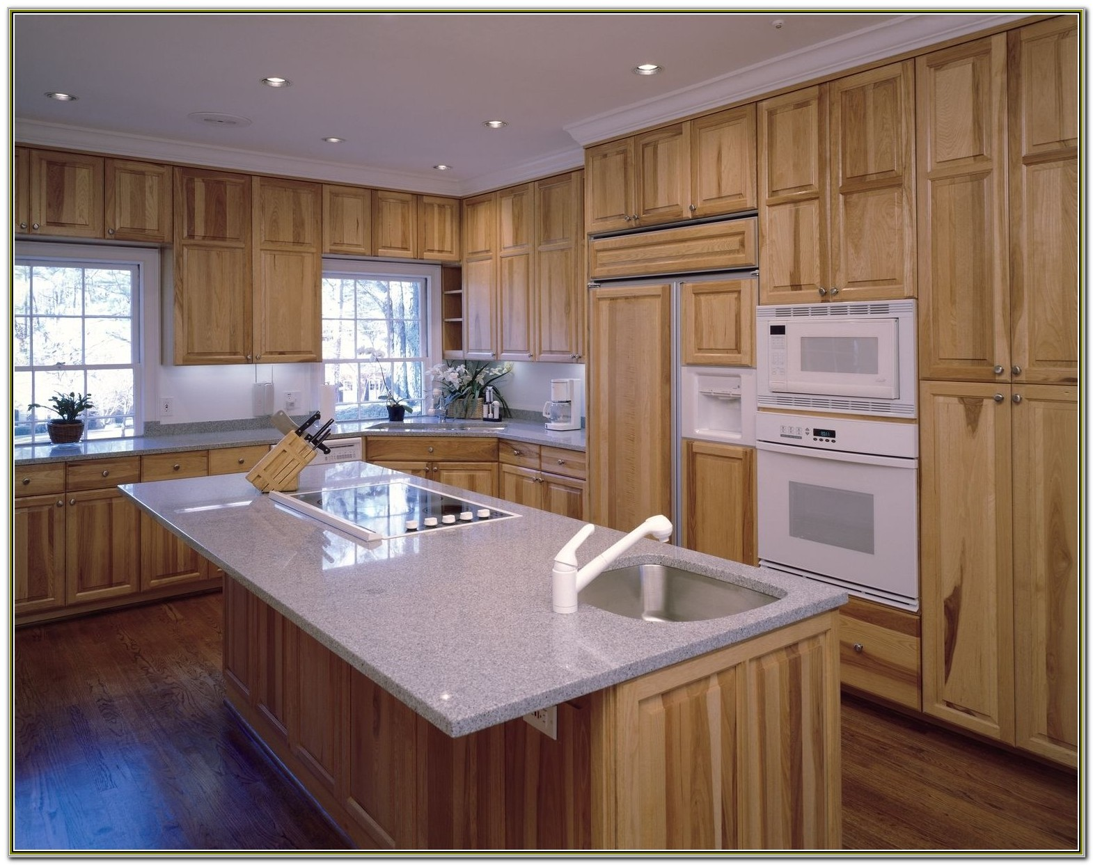 Home Depot Natural Hickory Kitchen Cabinets