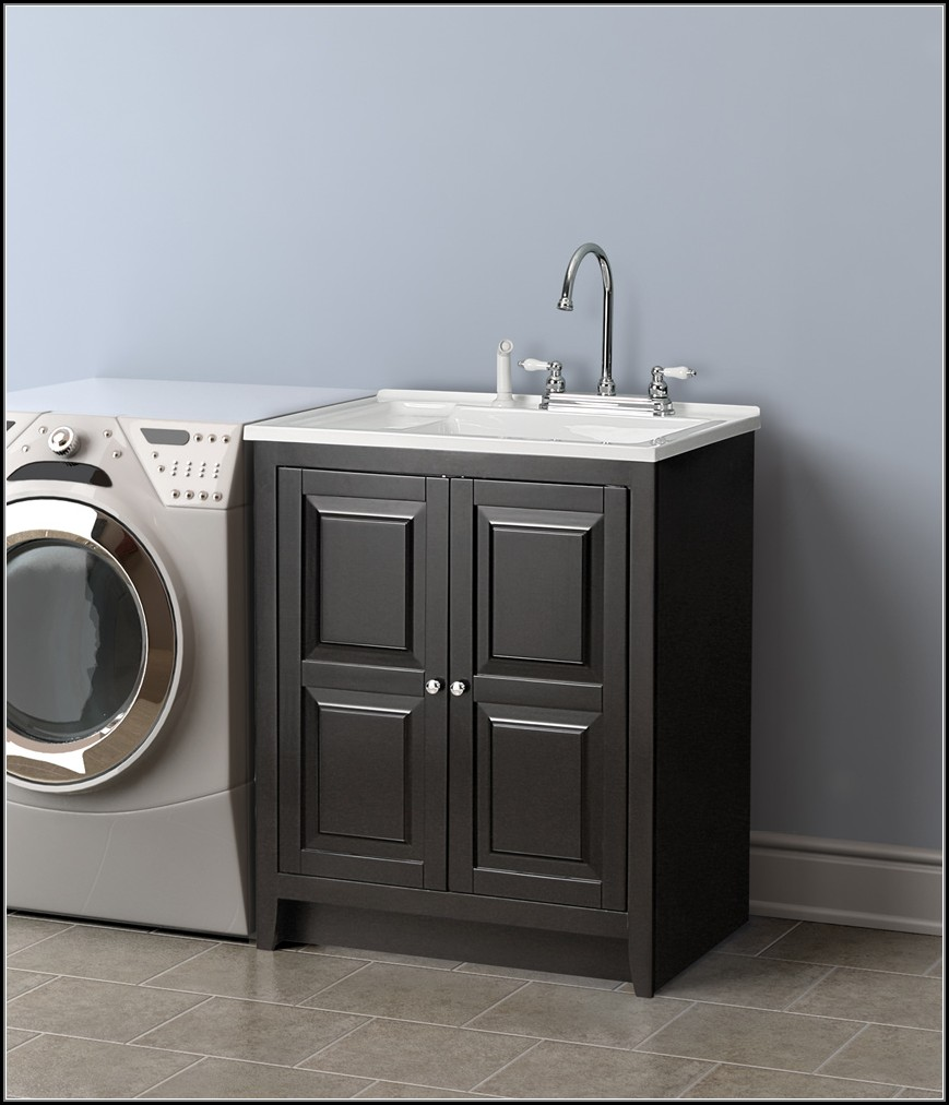 Laundry Utility Sinks With Cabinets