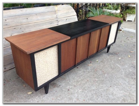 Mid Century Stereo Console Cabinet