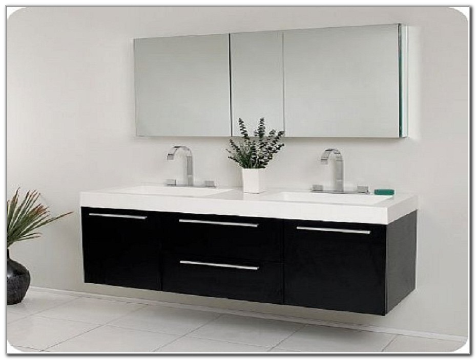 Modern Double Sink Bathroom Vanity Cabinets