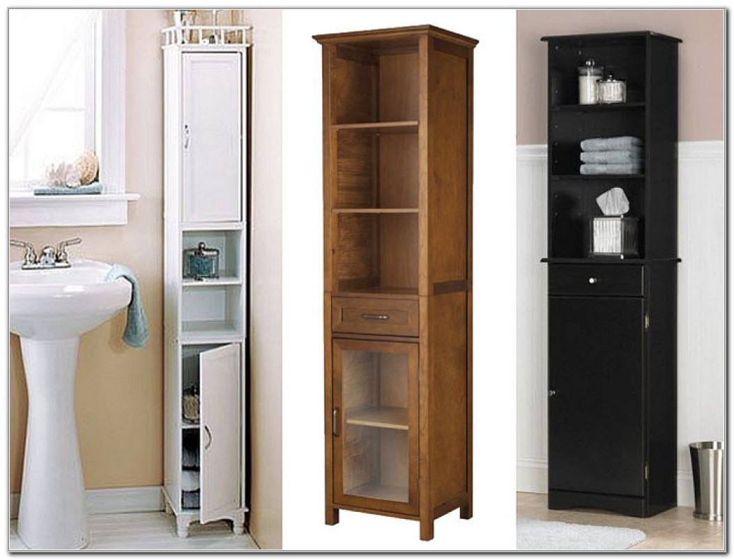 Narrow Tall Cabinet For Bathroom