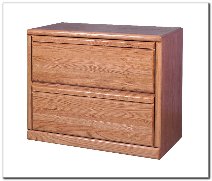 Oak Lateral File Cabinet