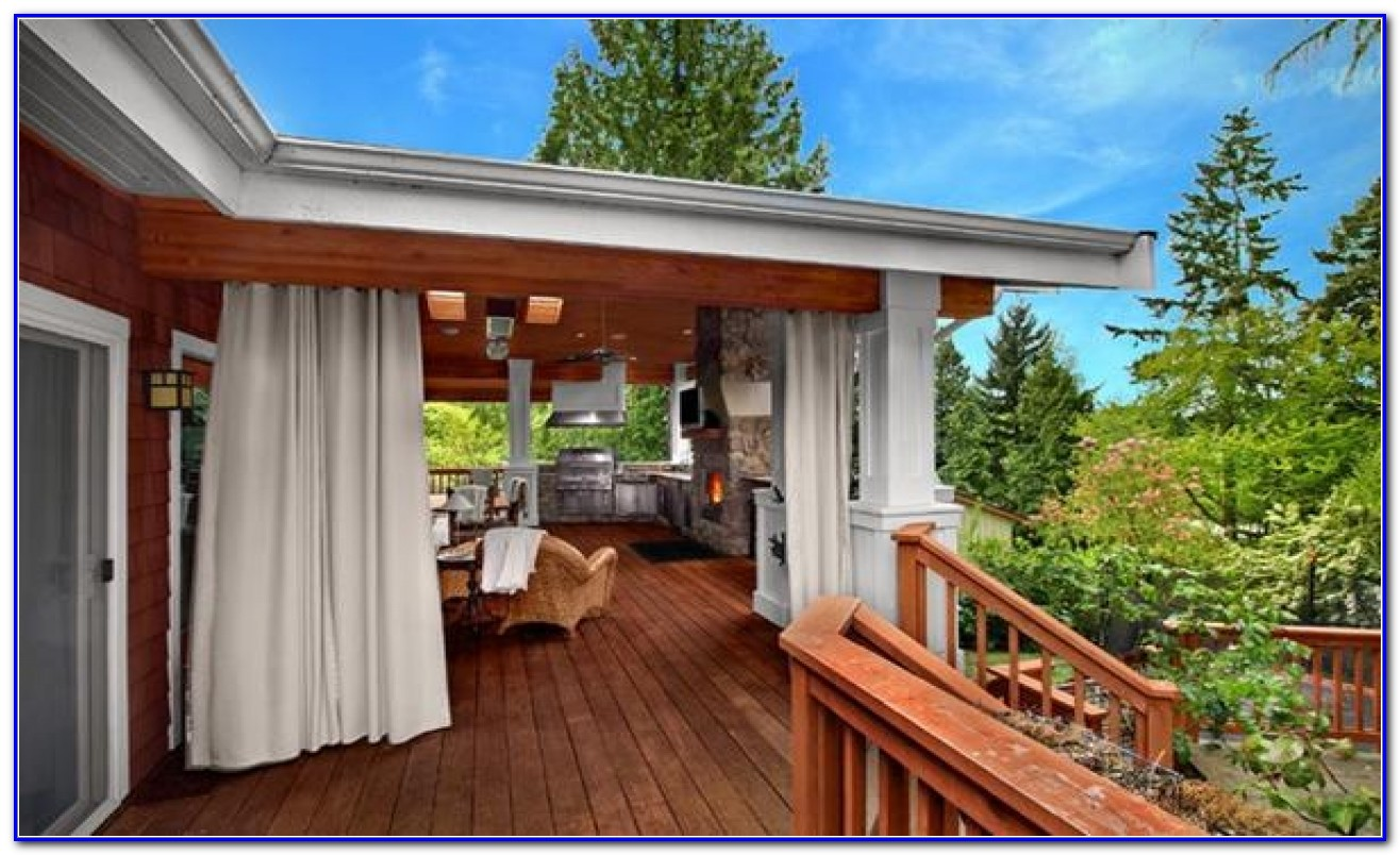 Outdoor Deck Privacy Curtains