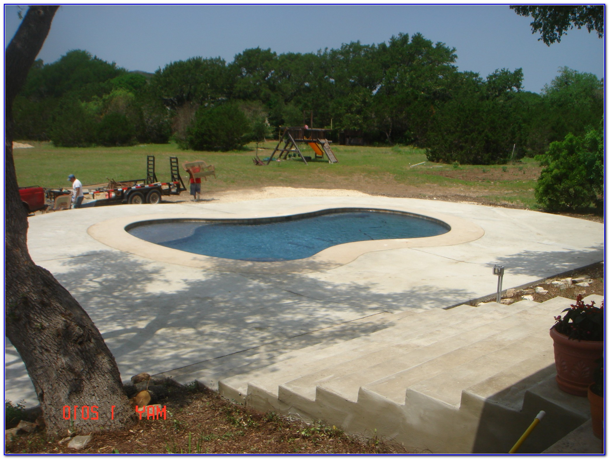 Pool Deck Resurfacing Stamped Concrete