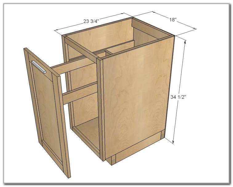 Pull Out Trash 18 Cabinet