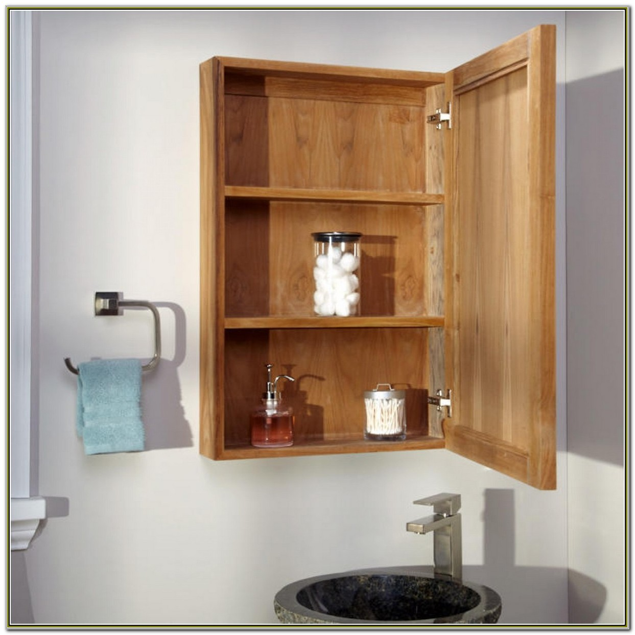 Recessed Wooden Medicine Cabinets