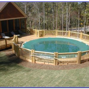 Swimming Pool Decks Above Ground Designs