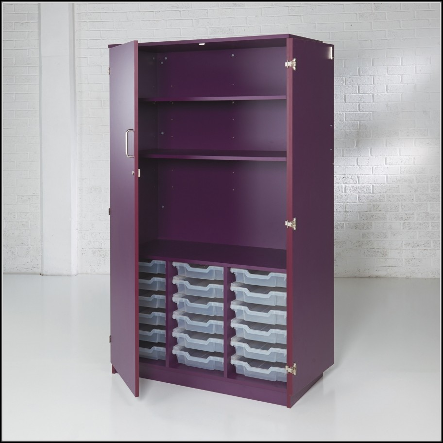 Tall Shallow Cabinet With Doors