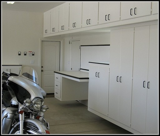 White Garage Cabinets Home Depot