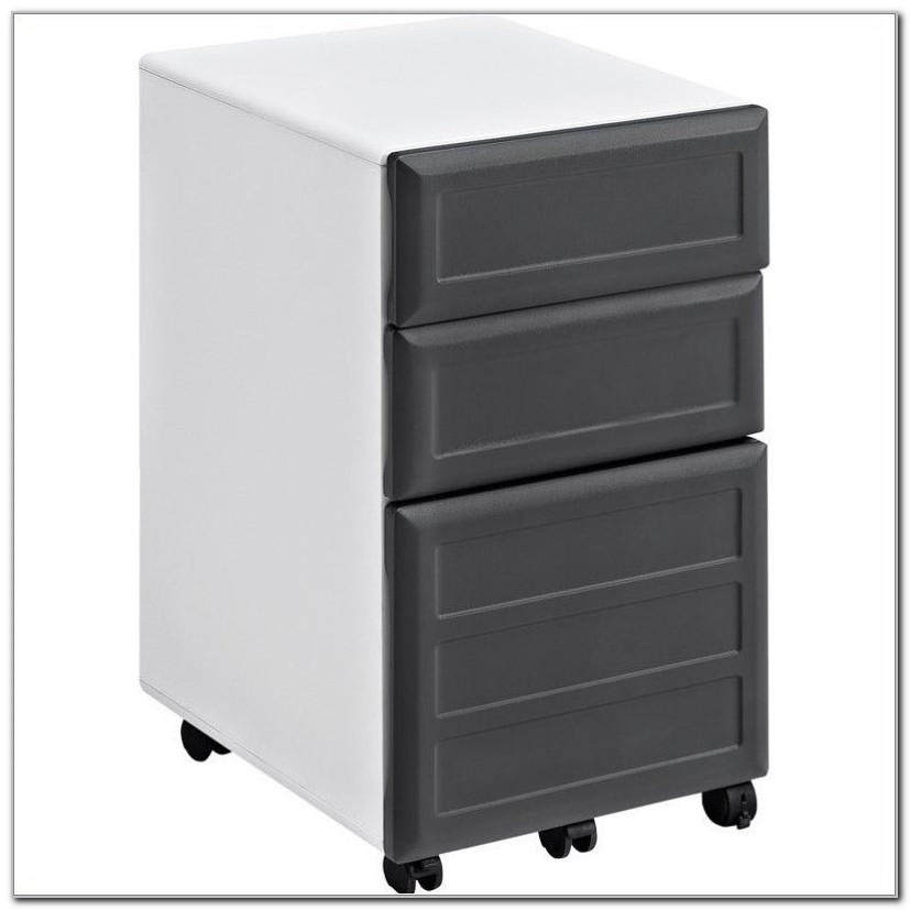 White Two Drawer Vertical File Cabinet
