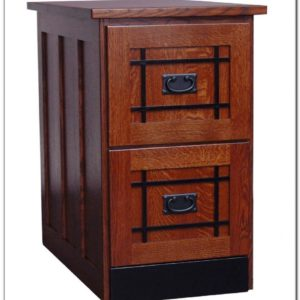 Wood Filing Cabinet 2 Drawer