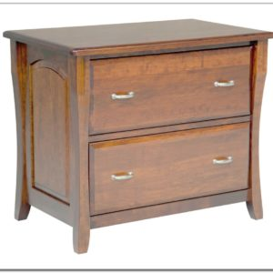 Wood Lateral File Cabinet 2 Drawer
