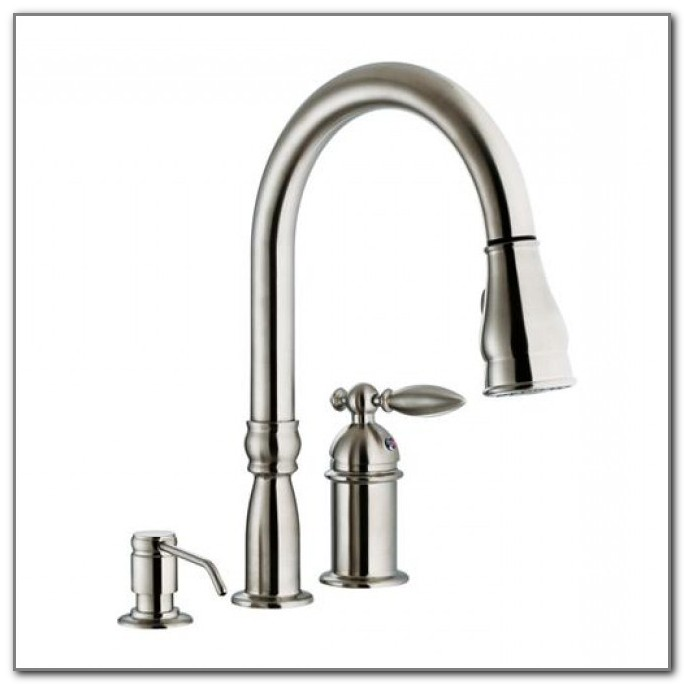 3 Hole Kitchen Faucet Stainless