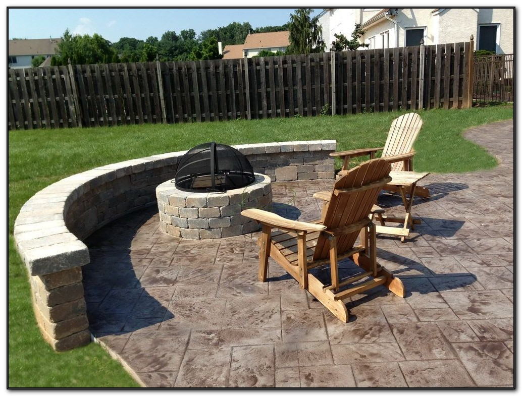 Concrete Patios With Fire Pits