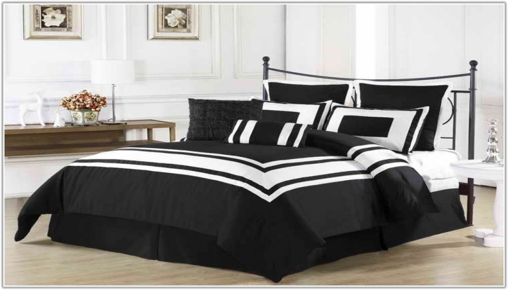 Black And White Comforter Sets Full Size