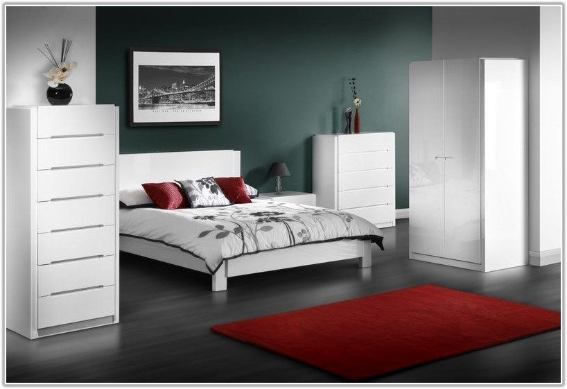 Modern White Gloss Bedroom Furniture