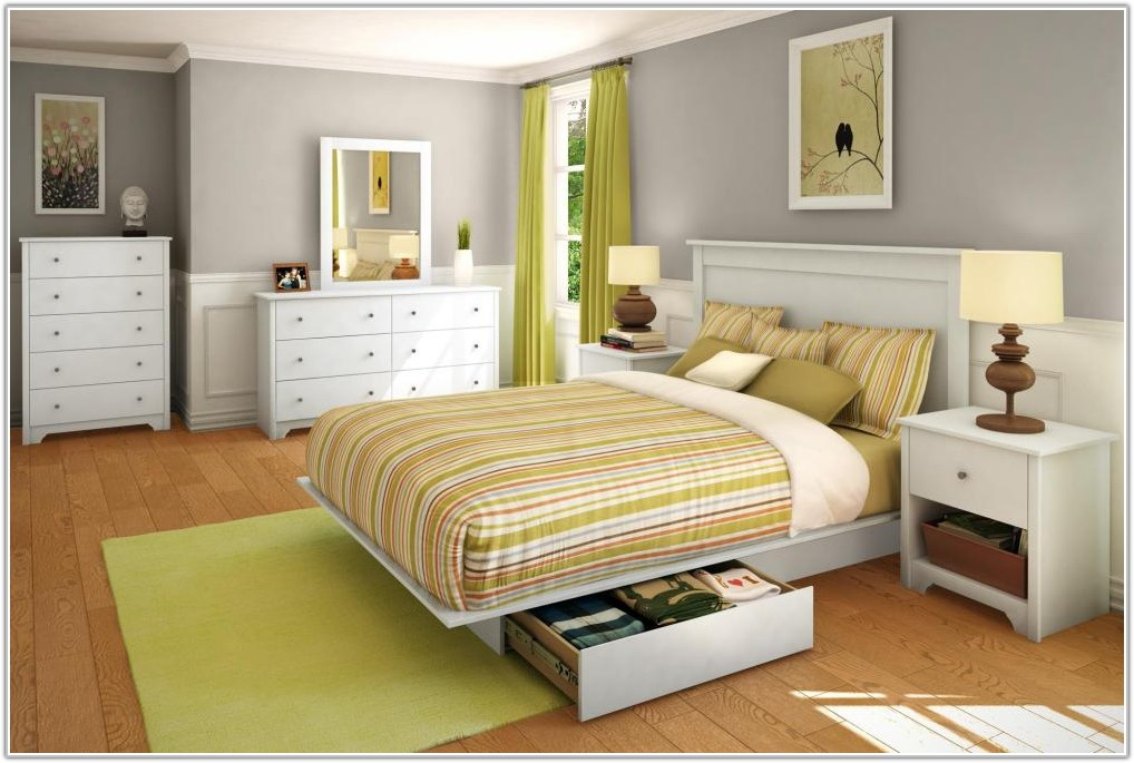 White Full Size Bed Sets