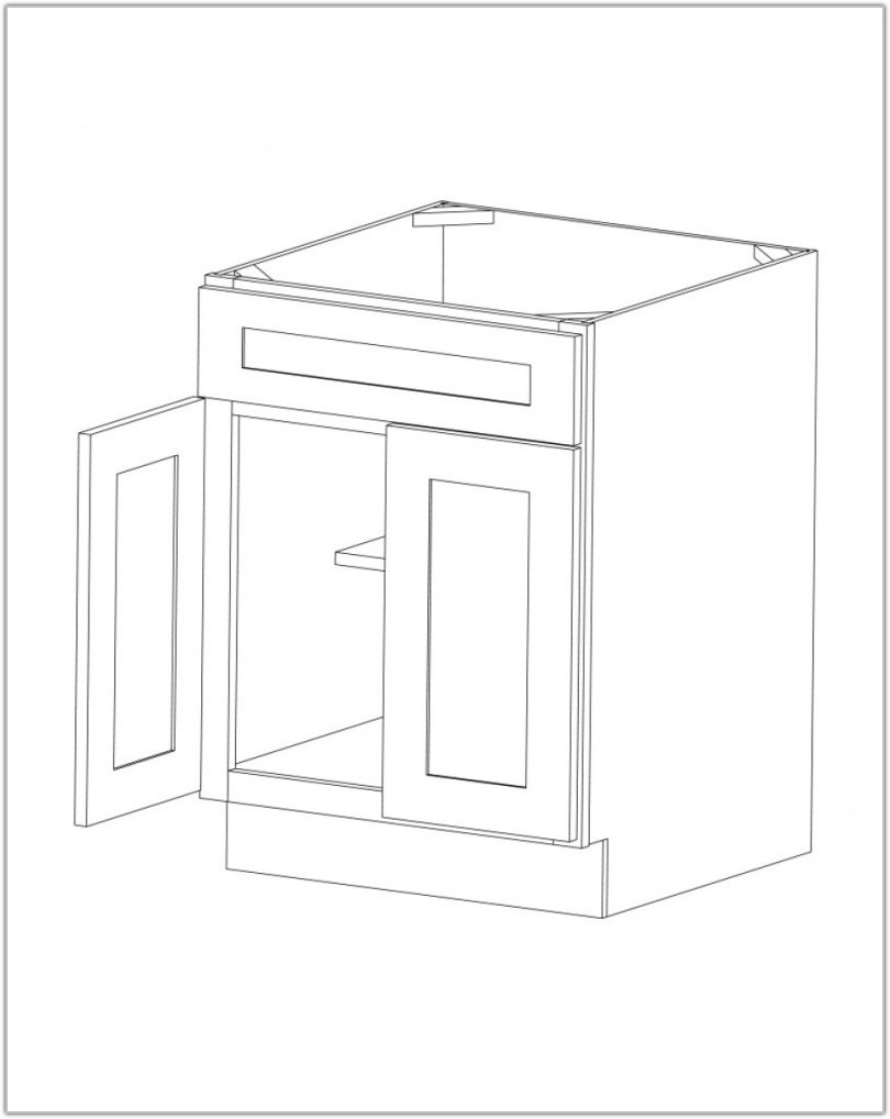 30 Sink Base Cabinet White