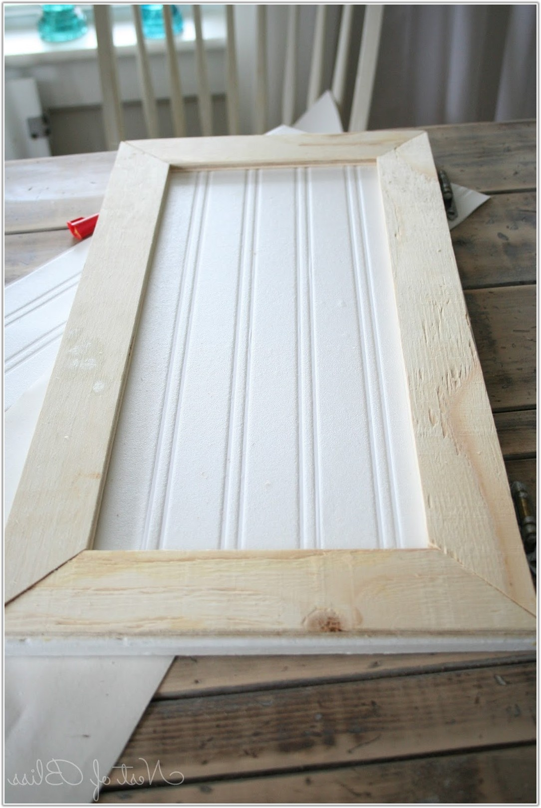 Adding Beadboard To Kitchen Cabinet Doors