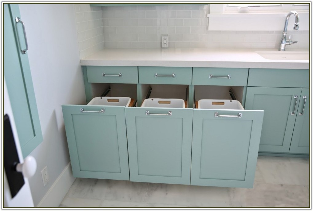 Bathroom Cabinet With Built In Laundry Hamper