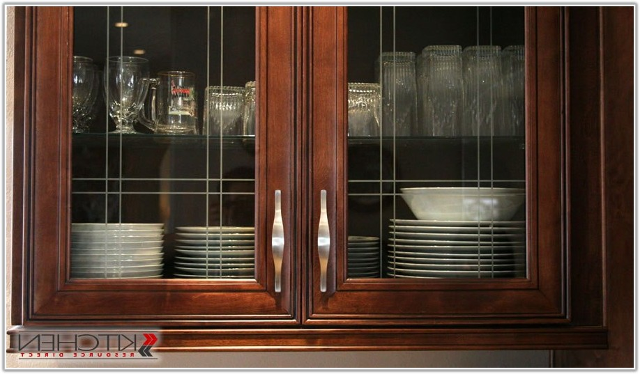 Black Kitchen Cabinets With Glass Inserts