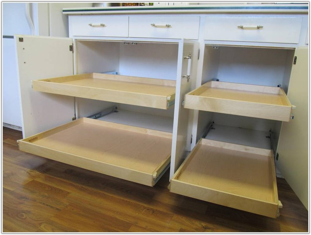 Cabinet Pull Out Shelves Diy