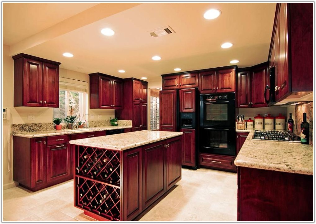 Cherry Wood Kitchen Cabinets Images