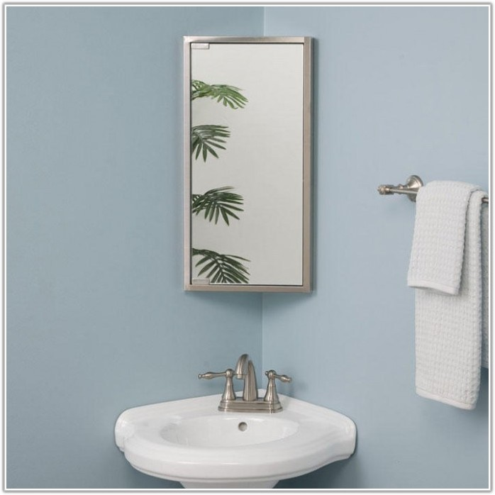 Corner Medicine Cabinet With Mirror And Lights
