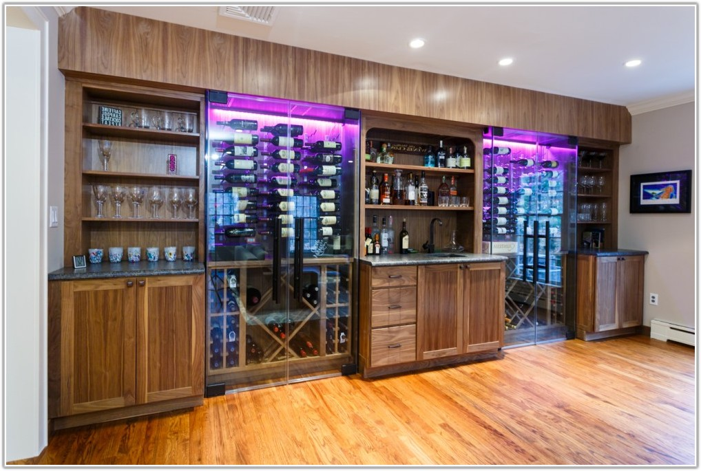 Custom Built In Wine Cabinets
