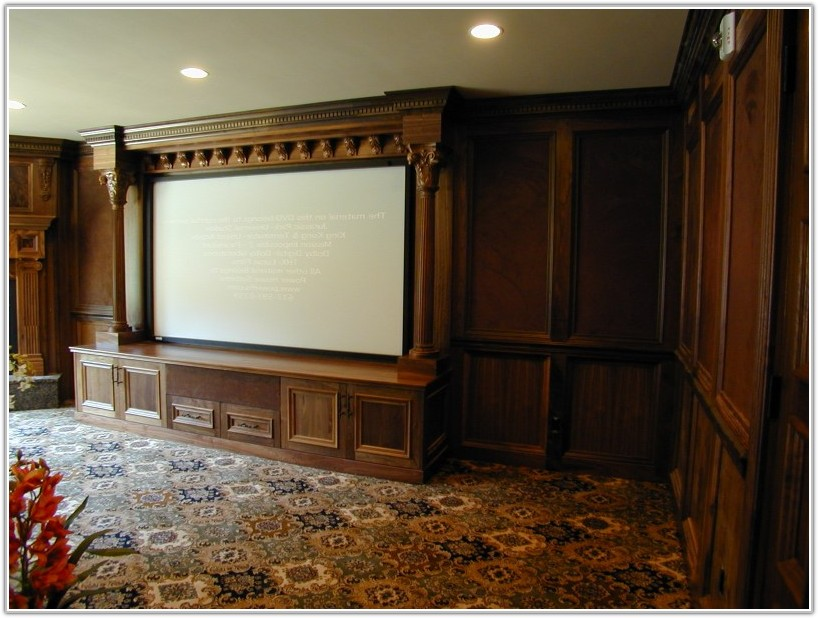 Custom Home Theater Cabinet Design
