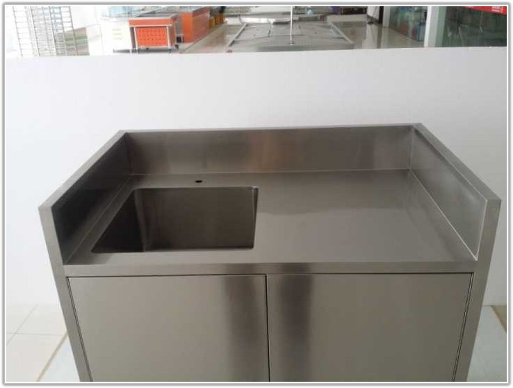 Custom Stainless Steel Kitchen Cabinets
