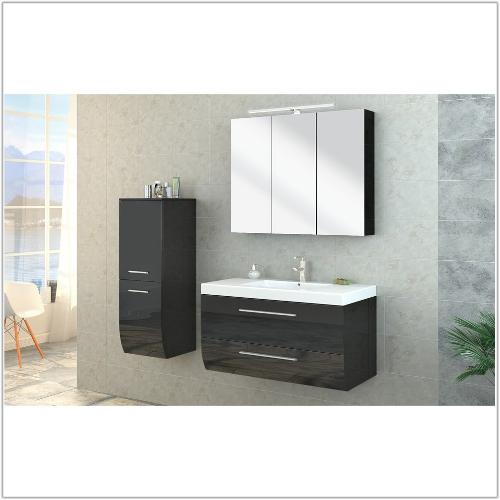 High Gloss Bathroom Cabinets Black