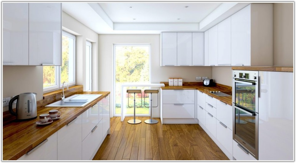 High Gloss White Kitchen Cupboard Doors