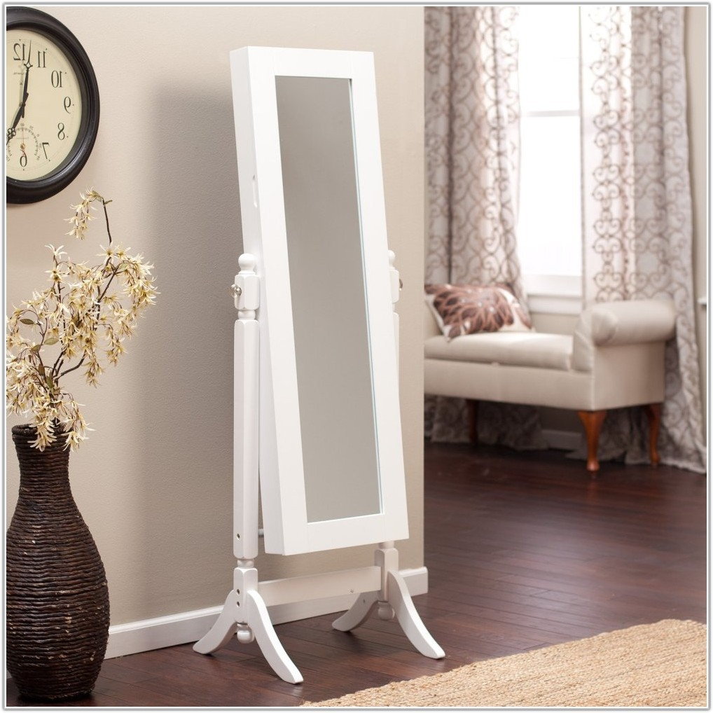 Jewelry Armoire Mirror Free Standing